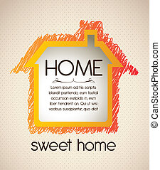 home icon - Illustration of home icon, house silhouette on...