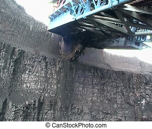 Coal mining - Digger Extraction of coal digger