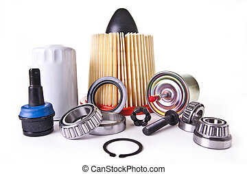 Assortment of Auto Engine Parts - A collection of different...