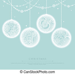 Christmas balls - Vector illustration of Christmas balls