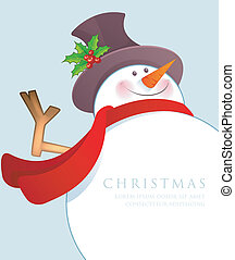 Christmas Snowman - Vector illustration of Christmas Snowman
