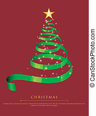 Abstract green christmas tree - Vector illustration of...