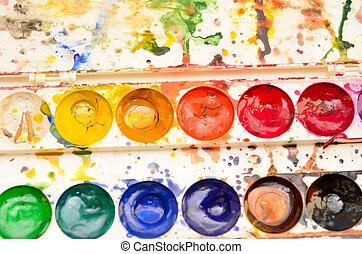 color palette - close up of color palette