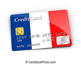 Credit Card covered with French flag