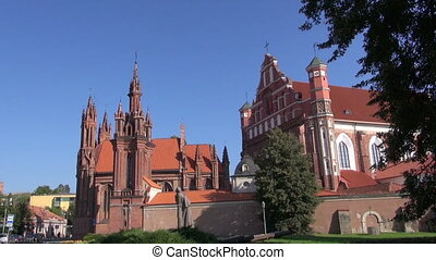 St Annes Church in Vilnius - UNESCO heritage historical St...