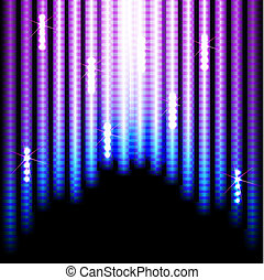Lights background - Abstract Colorful Stripes on Black...
