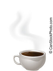 Cup of Steaming Coffee