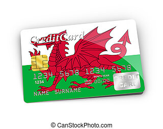 Credit Card covered with Wales flag