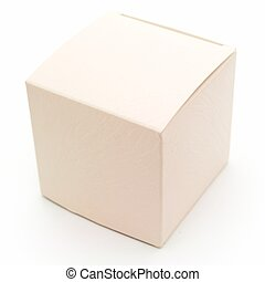 Beige fancy box on a white background
