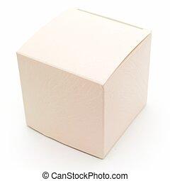 bege, fantasia, caixa
