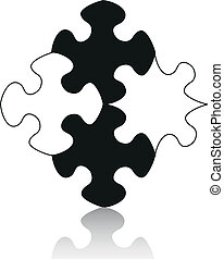 puzzle with reflection