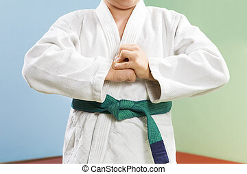 judo - young boy preparing to perform judo