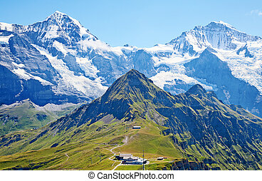 mount Jungfrau - Famous mount Jungfrau in the swiss alps