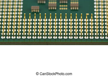 Computer processor CPU close up - A Computer processor CPU...