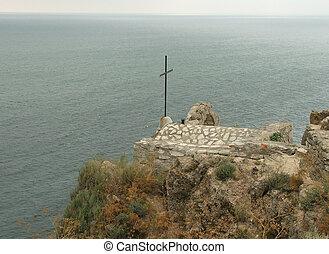 Sea Tomb - Tomb on coast of Black sea, cape Koliakra.