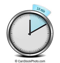 10min timer - illustration of a metal framed 10min timer