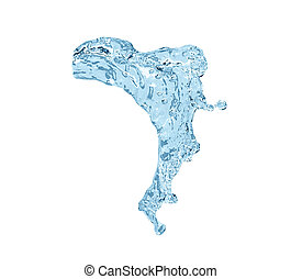 High resolution water splashe isolated on white background