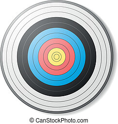 archery target - illustration of an archery target