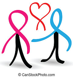 Support people infected with AIDS - Illustration of support...