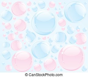 Abstract bubble soap illustration