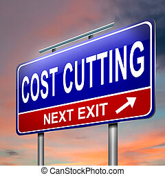 Cost cutting concept - Illustration depicting an illuminated...