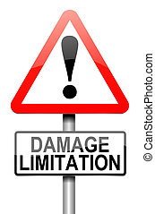 Damage liability concept - Illustration depicting a roadsign...