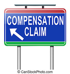 Compensation claim - Illustration depicting a roadsign with...