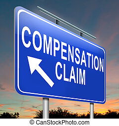 Compensation claim. - Illustration depicting a roadsign with...
