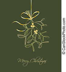 Christmas background - hanging Christmas decoration with...