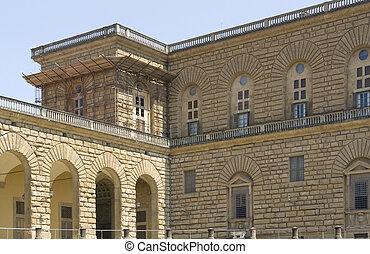 Palazzo Pitti - detail of the Palazzo Pitti in Florence...