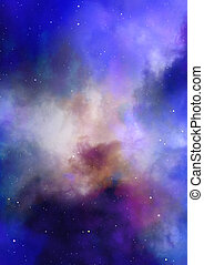 Star field in space and a nebulae - Star field in space, a...