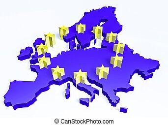 3d european union map