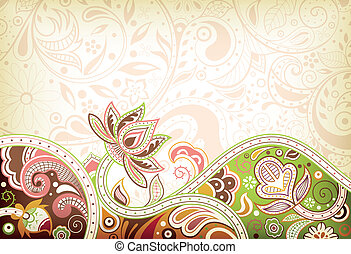 Abstract Asia Floral Background