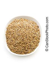 linaza, o, flaxseed, aislado