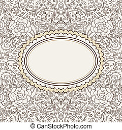 floral-card-template - vector ornamental decorative card...