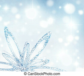Christmas holiday background - Christmas tree silver...