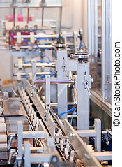 Product on the conveyor in factory