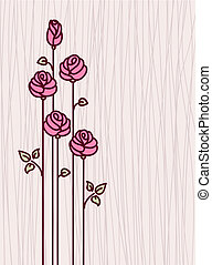 Greeting Card with Pink Stylized R
