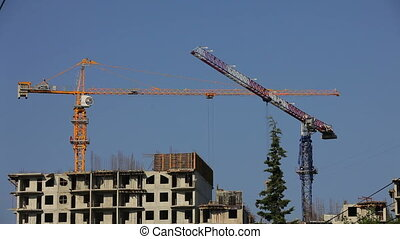 Constructing a building - Process of construction of a...