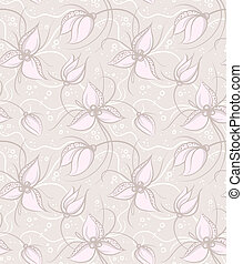 Seamless Floral Light Vector Background