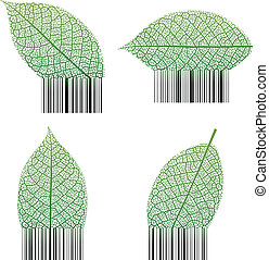 Leaf barcode - Illustration Vector of Leaf Barcode.