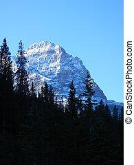 Rocky Mountain face - Face of Rocky Mountain and snow