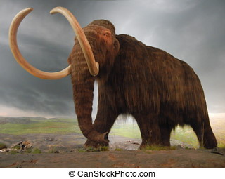 Wooly Mammoth - Prehistoric Wooly Mammoth statue