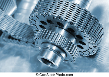 gears and chain engineering - gear wheels and chains,...