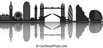 london skyline with big ben and tower bridge