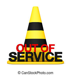 Out of service 3d sing Stop symbol danger