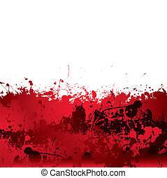 Blood splatter background - Red blood splatter background...