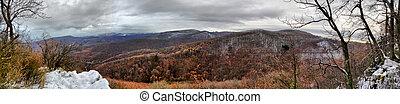 hdr winter landscape