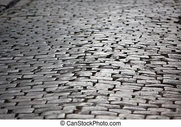 Manmade Pavement - Old pavements are done by chisel cut...
