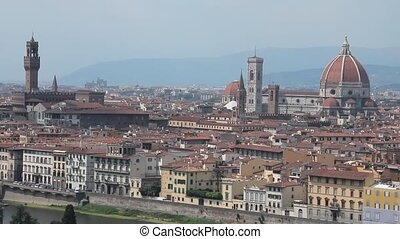 Static shot of Florence, the %u201Cduomo%u201D and the town...